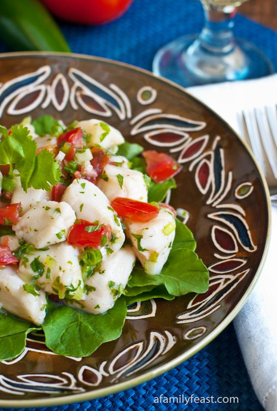Scallop Ceviche - A light and delicious seafood dish. Plus information on how to safely select seafood when making ceviche!