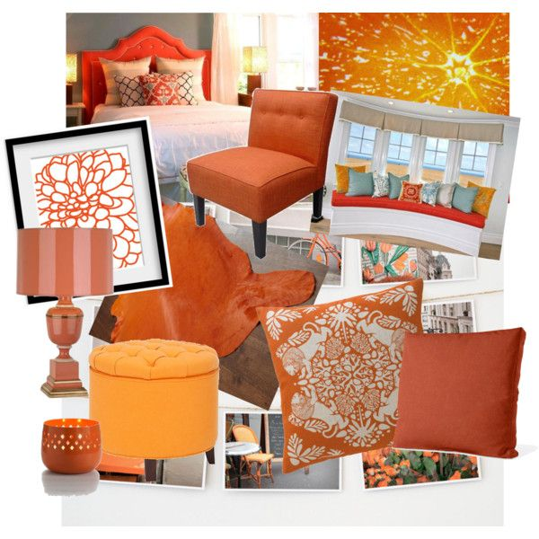 21 Best Images About Home Decor Trend Tangerine Madness