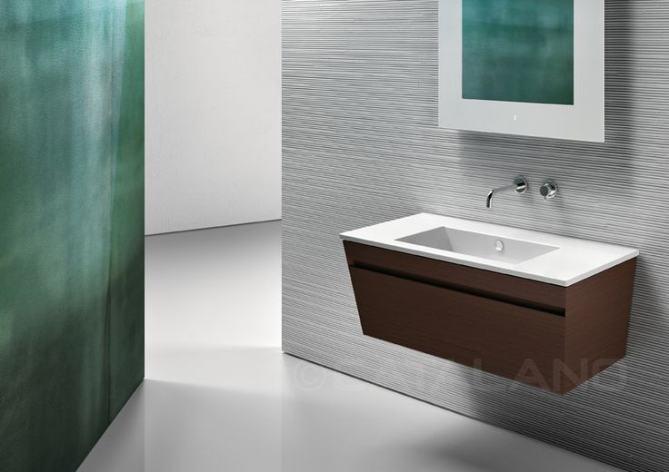 Star 105_Washbasin with 0, 1 or 3 tapholes. Suitable for wall-hung, semi inset, pedestal or sit on installation. Cabinet manufactured by INOVA