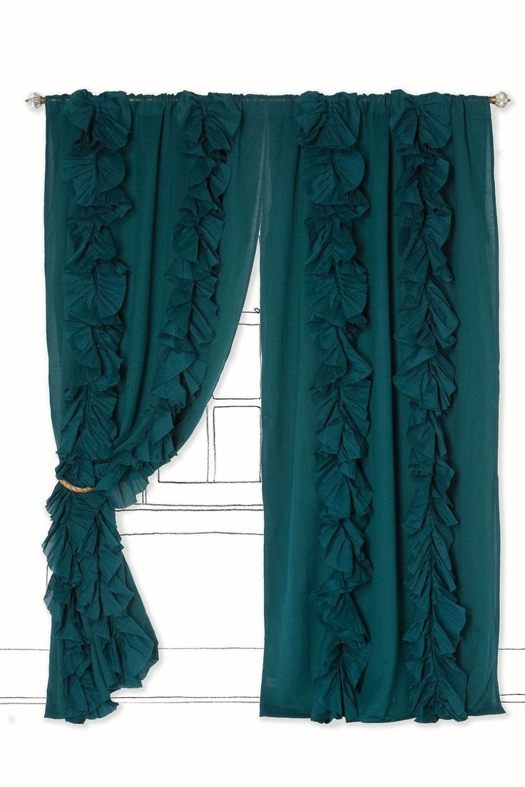 Blue curtain living room - Wandering Pleats Curtain