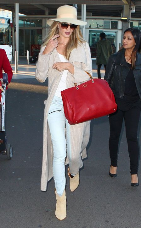 Rosie Huntington-Whiteley's effortless travel outfit
