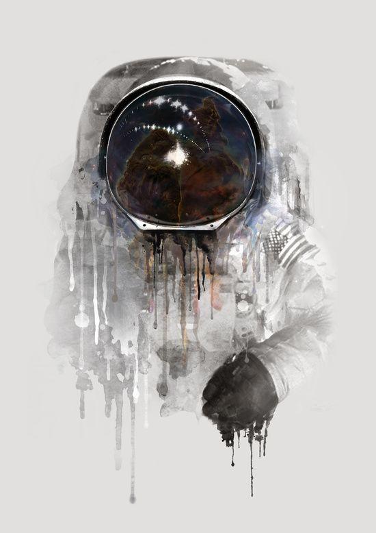 Poster | ASTRONAUT von Dániel Taylor