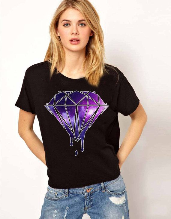 cool diamonds fox galaxy women tshirt Size S M L XL by Jacklontong, $18.00