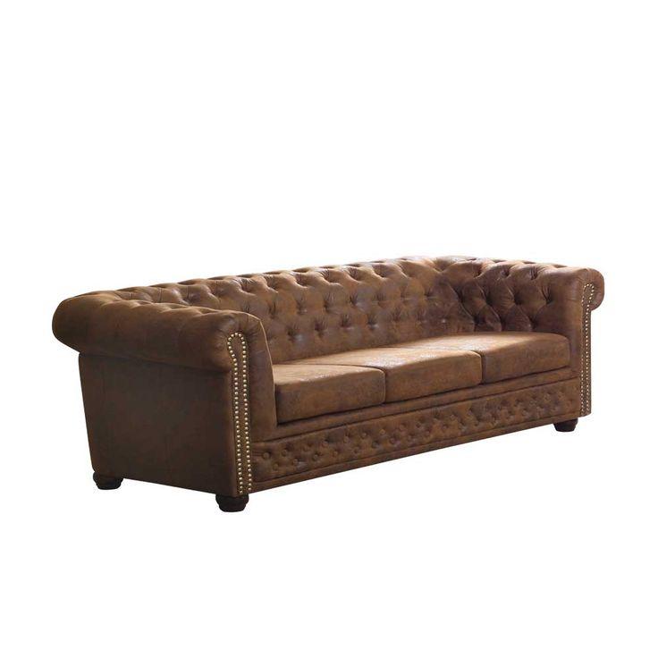 3 Sitzer Sofa In Braun Chesterfield Optik Jetzt Bestellen Unter Moebelladendirektde Wohnzimmer Sofas Uid1d833a31 A0c6 5099
