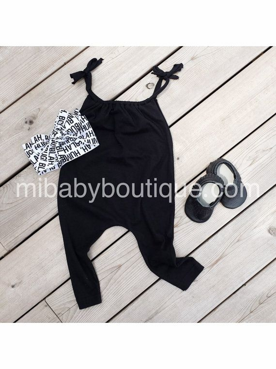 Organic Cotton T-shirt Romper / Harem / by miBabyBoutiqueShop