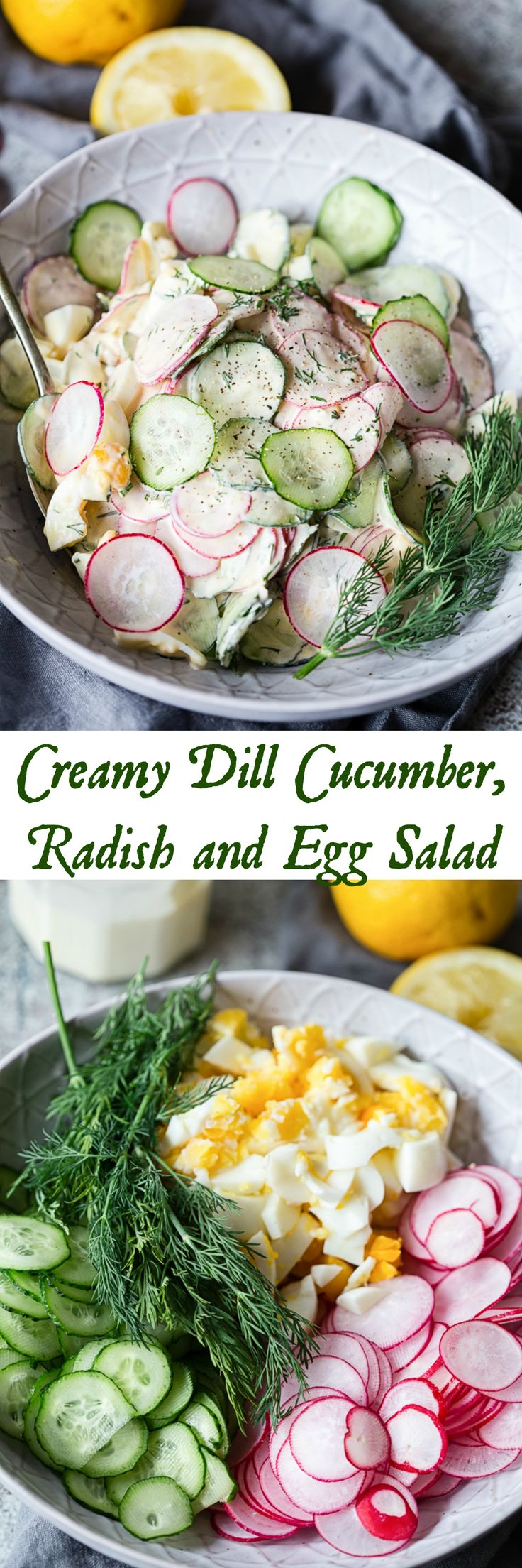 This creamy dill cucumber, radish and egg salad is here to rescue you from your lettuce salad rut! Quick and delicious, this salad is the taste of summer!