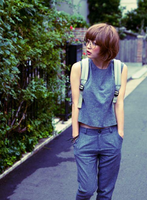 【MAKE'S】 http://beautynavi.woman.excite.co.jp/salon/25799 ≪short・ショート・メガネ・眼鏡・hairstyle・ヘアスタイル・gray≫