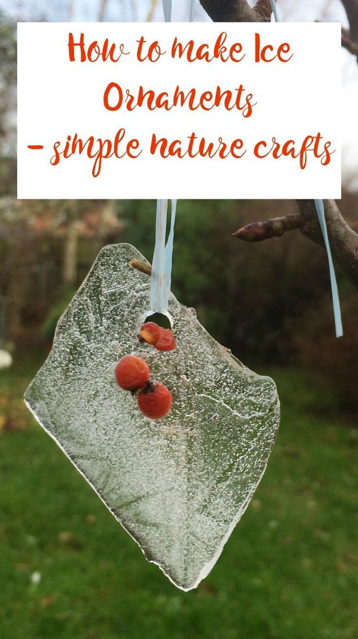 Frozen Ornaments such a simple nature craft idea that children will love to get involved in. It's a perfect winter craft and such an easy craft too, Simple crafts are the best!