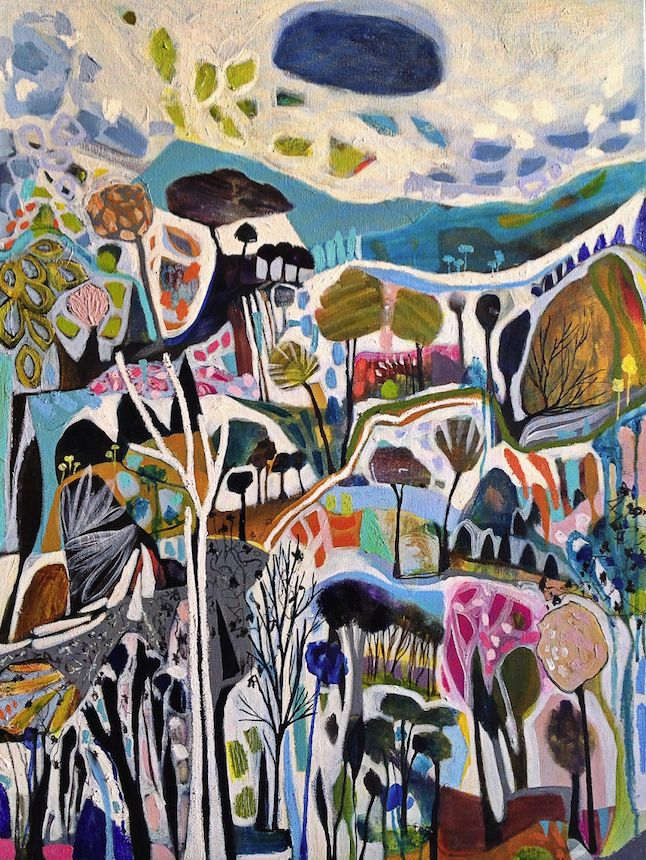 "SOLD ""1000 Shapes of Landscape"" by Lisa Morgan www.tuskgallery.com.au"