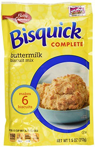 Betty Crocker Bisquick Complete Buttermilk Biscuit Mix, Just Add Water! 7.5 Oz. = 6 to 8 Biscuits (4 Pack) -- New offers awaiting you  : baking desserts recipes