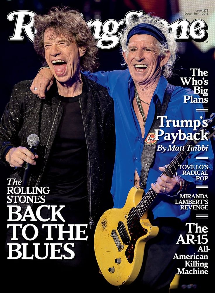 Mick Jagger and Keith Richards - Rolling Stone December 2016