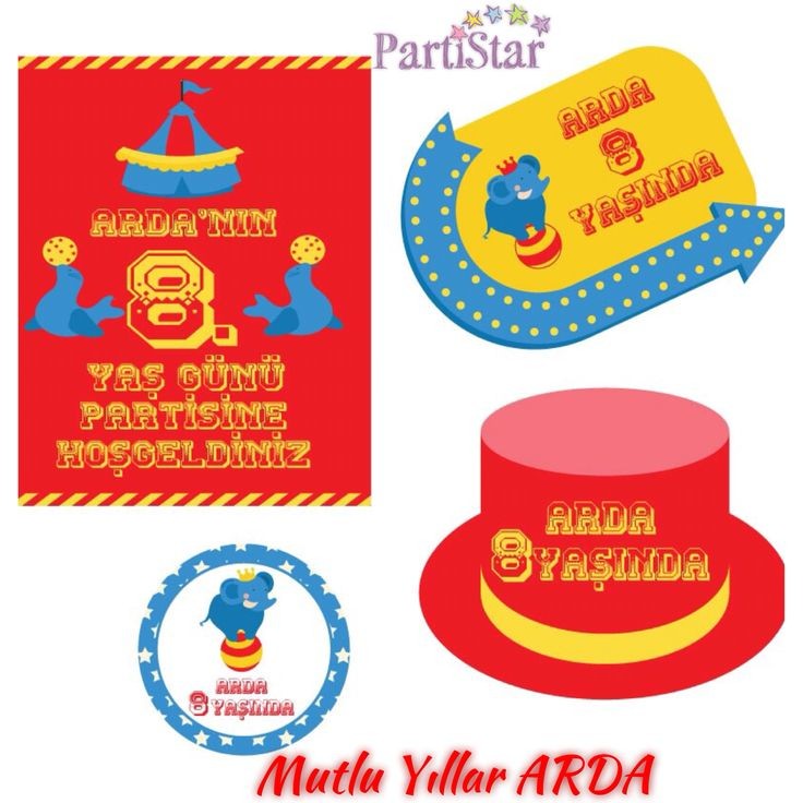 Mutlu Yıllar Arda! #parti #partistar #partistarr #party #partimalzemeleri #partisüsleri #kişiyeözelparti #doğumgünü #doğumgünüsüsleri #doğumgünüpartisi #doğumgünüorganizasyonu #doğumgünüorganizasyon #partisüsü #sirk #circus #happybirthday