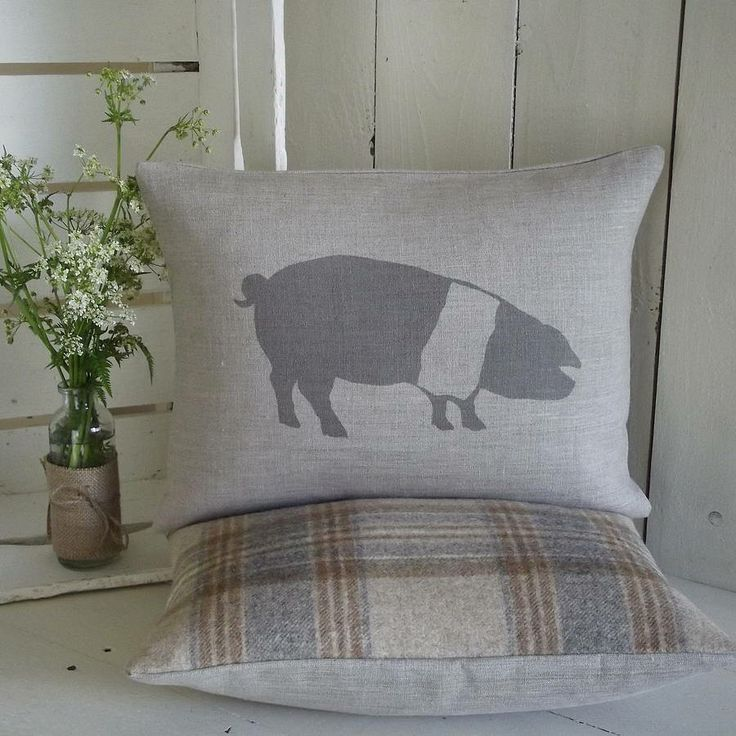 saddleback pig cushion by rustic country crafts | notonthehighstreet.com