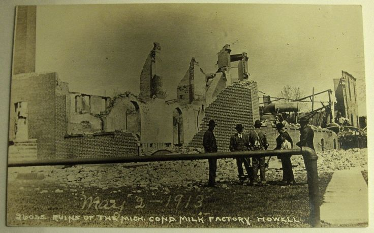 The razing of the Condensed Milk Factory on West St., 1913.