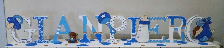 Giampiero... lettere di legno decorate