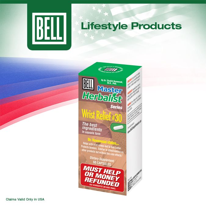 Bell Wrist Relief is a unique formula designed to help maintain optimum bone health and improve your quality of life. This particular formula is composed of vitamins, herbs and omega 3 fish oil. It is specifically designed for ligament and joint support, as well as protecting tendons and nerves. Learn more about Bell Wrist Relief on our website today. http://bit.ly/1ifzawz