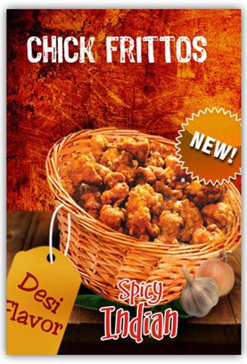 CHICKEN FRITTOS #Chicken #cubes with #Indian #desi #masala #flavor.