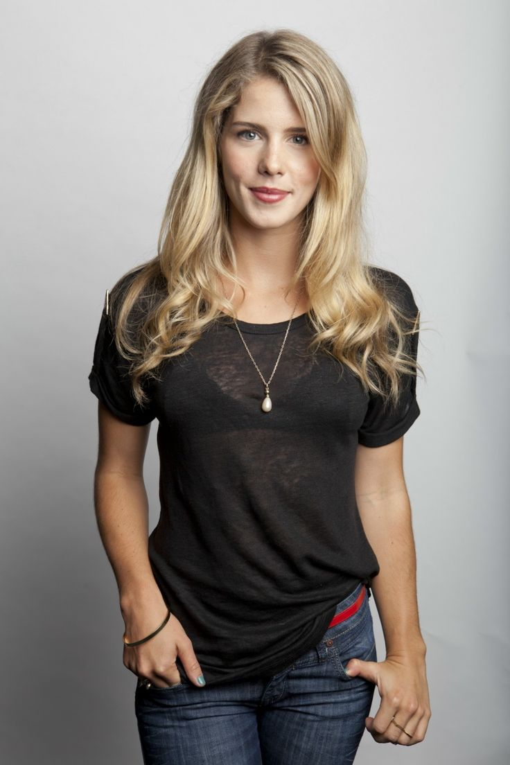 "Not usually into blondes, but Emily Bett Rickards from the CW's ""Arrow"" is absolutely gorgeous. love her looks KD"