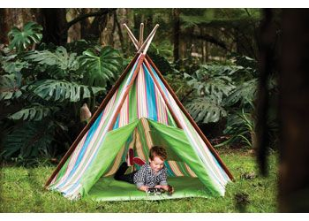 Striped Teepee. Children will love playing in this colourful teepee.