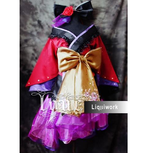 Women Japanese Lolita Geisha Cosplay Masquerade Costumes Outfits for Halloween SKU-131011