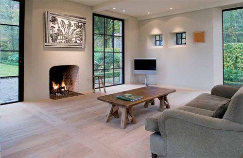 Perpendicular strip to define space...Corvelyn - Realisations - Gamekeeper's house