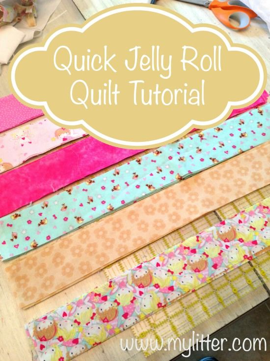 Quick Jelly Roll Quilt Tutorial