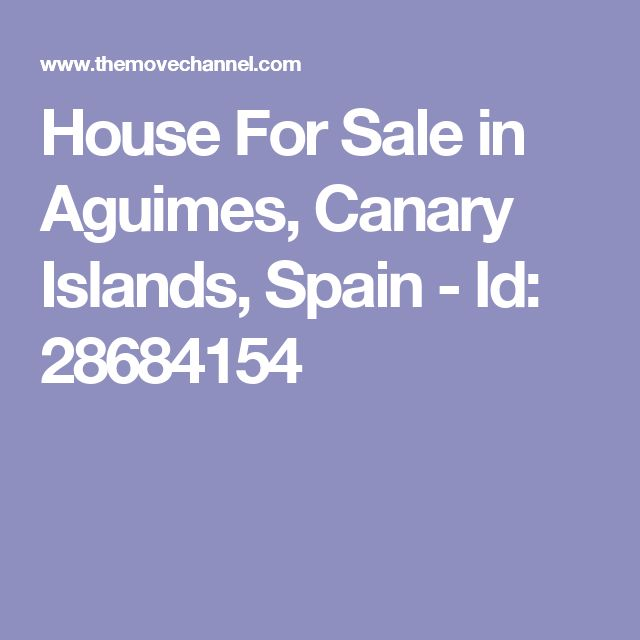 House For Sale in Aguimes, Canary Islands, Spain - Id: 28684154