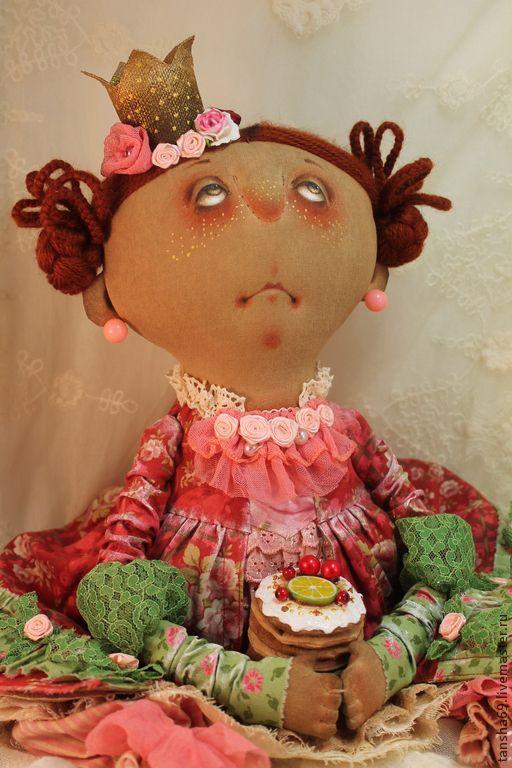 Пирожинка - текстильная кукла,ароматизированная кукла,интерьерная кукла