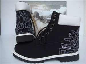 Men's Timberland Boots Black/White Logo #Timbs