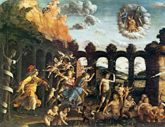 Andrea Mantegna c. 1499-1502 Pallas Expelling the Vices from the Garden of Virtue