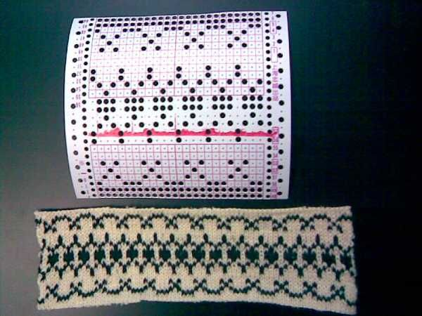 punch card pattern