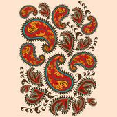 Hand-Drawn Henna Mehndi Abstract Mandala Flowers — Stock Illustration #100473154