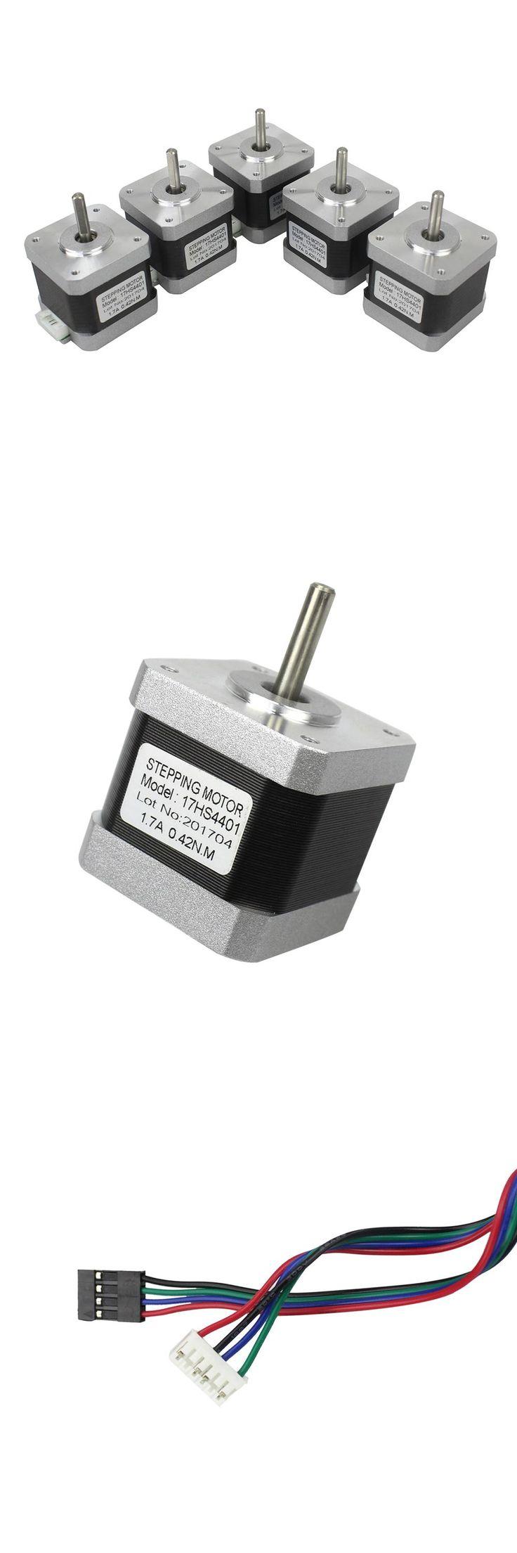 [Visit to Buy] 5PCS For CNC XYZ Nema17 Stepper Motor 42 motor Nema 17 motor 42BYGH 1.7A (17HS4401) motor #Advertisement