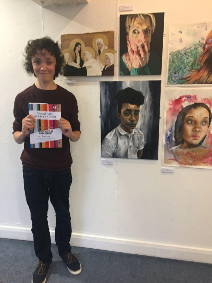 Cwmtawe's winner of the 2017 outstanding art exhibition - Swansea district.
