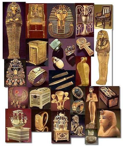 King Tutankhamun treasures. (1336-1327 BC, Eighteenth Dynasty). Cairo Museum.