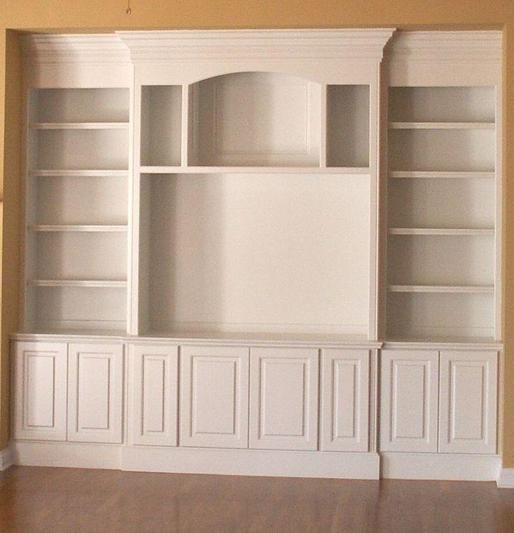 Built In Bookshelve: Simple Built In Entertainment Center