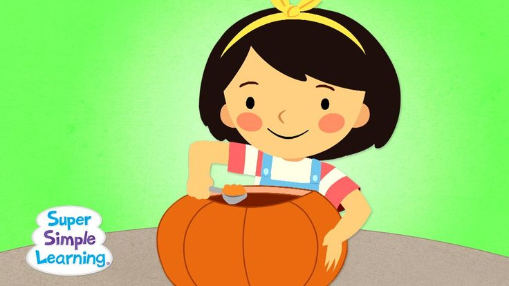 """This Is The Way We Carve A Pumpkin"" by Super Simple Songs - perfect song to sing before or while carving a pumpkin or making a jack-o'-lantern craft! #Halloween"