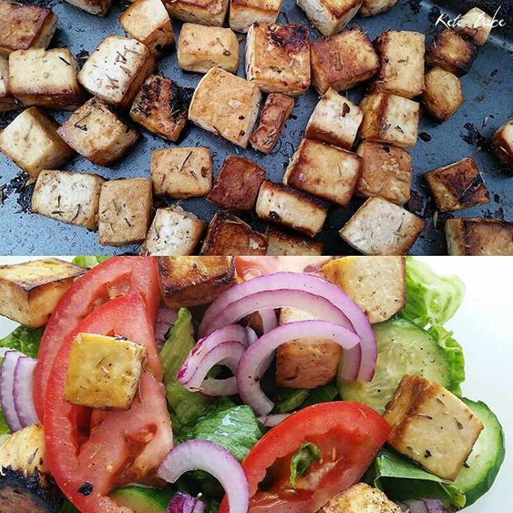 Last night I adjusted my macronutrient ratios and planned a new menu for the entire month. Here's today's lunch and in my video that I will be uploading soon, I talk about the huge mistake I made last month that caused my weight loss to stall. In this photo: Baked tofu with lemon and thyme thrown over a garden salad with olive oil and vinegar dressing. #ketobaberocks #ketobabe #vegan #ketovegan #veganketo #veganketogenic #ketogenicvegan #keto #ketogenic #ketosis #burnfatnotcarbs #carbskill…