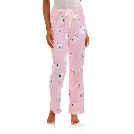 Secret Treasures Women's Super Minky Plush Pajama Sleep Pants, Size: Medium, Pink