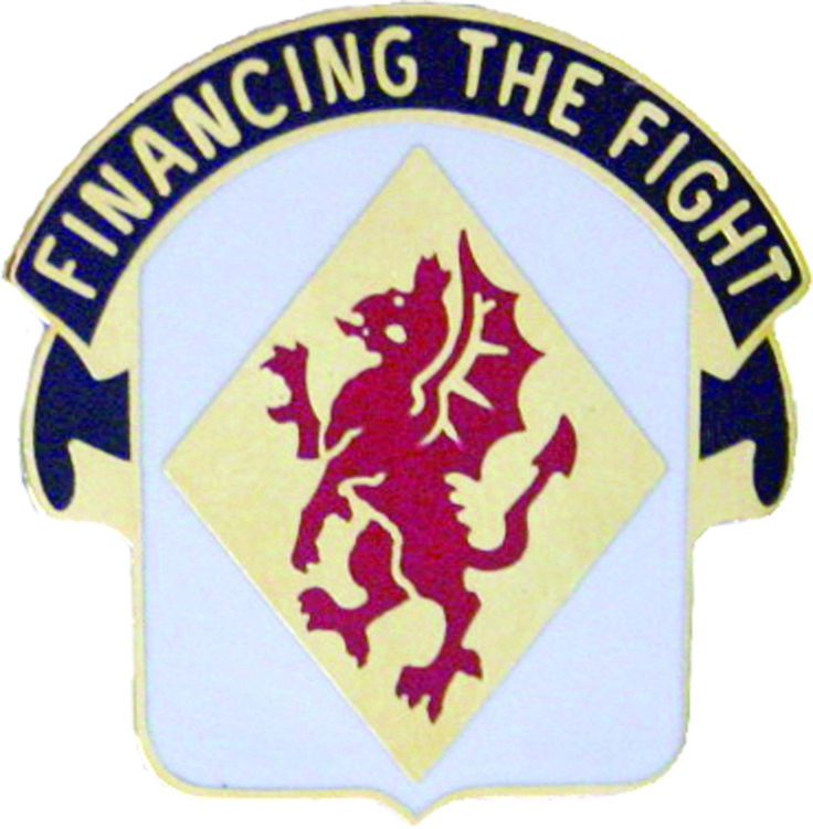 374th Finance Bn Unit Crest (Financing The Fight)