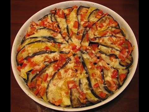 Запеканка из баклажанов с картошкой, помидорами и моцареллой - YouTube