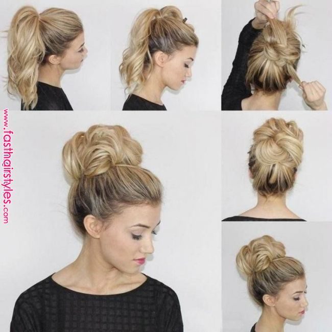 How To Do A Fast Messy Bun Youtube Fast Hairstyles Hair