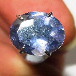 Oval Violetish Blue Iolite 1.45 carat Luster Bercahaya