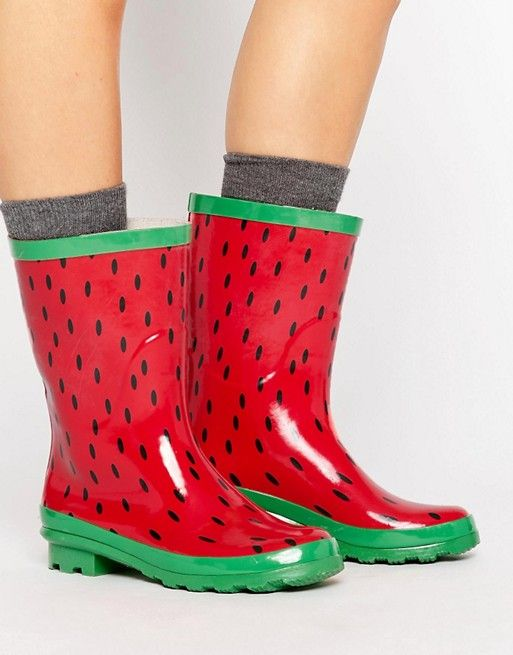 ASOS GIANT Watermelon Wellies