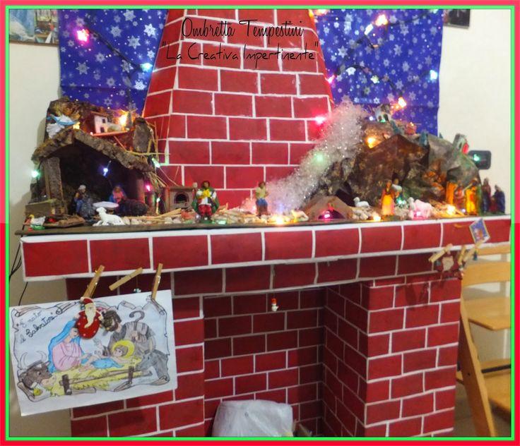La Creativa Impertinente: Decorazione di Natale: il camino con cartoni da riciclo