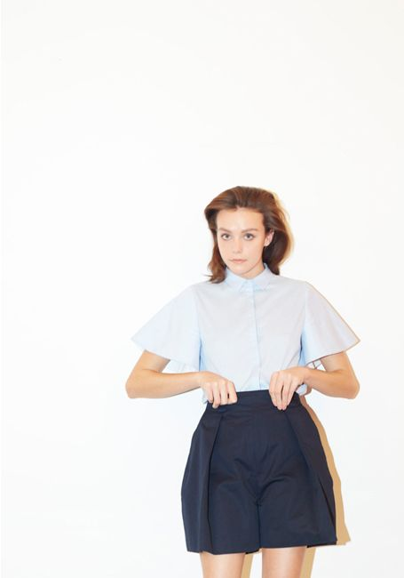 LE CIEL BLEU Ruffle Sleeve Shirt and Chino Pants
