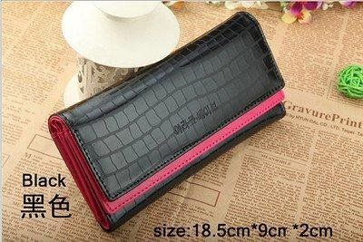 New ZB Card Coin Long Lady Purse women's Clutch Wallet PU Leather black $9.90 \(free shipping)