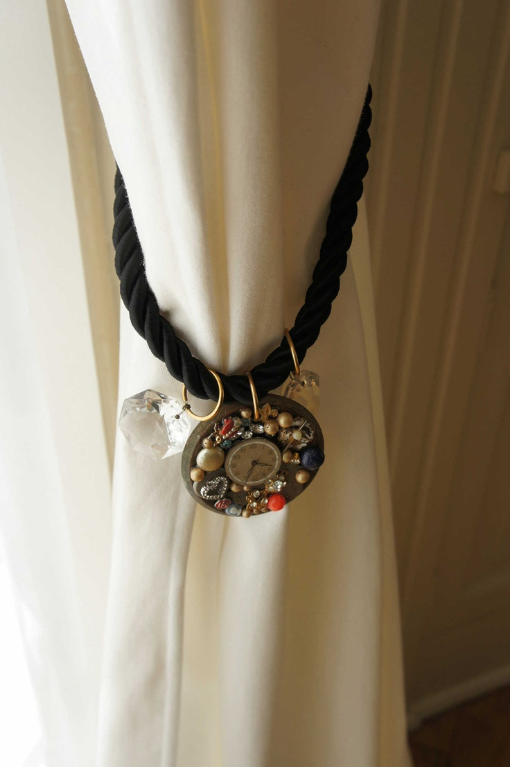 Curtain tie backs ideas - Find This Pin And More On Curtain Tie Back Ideas