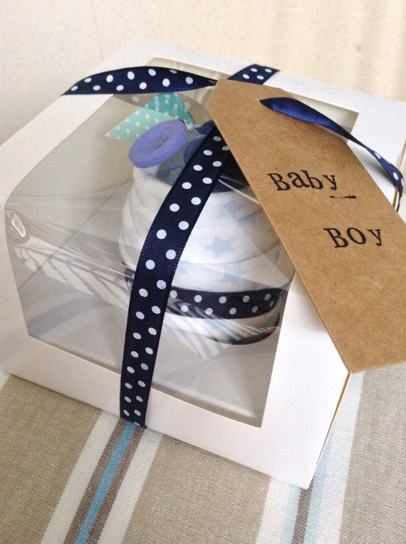 Baby clothes cupcake gift | New Baby Boy/Girl | Baby shower gift