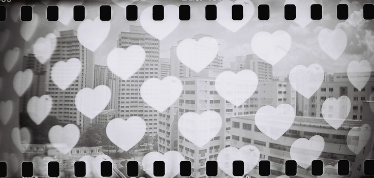 <3 <3 <3 Public Housing in Singapore  Black and White Double Exposure